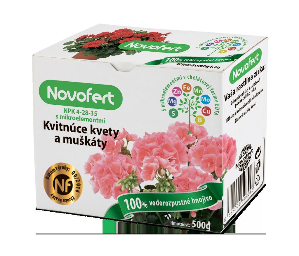 Vodorozpustné hnojivá NOVOFERT Kvitnúce kvety a muškáty