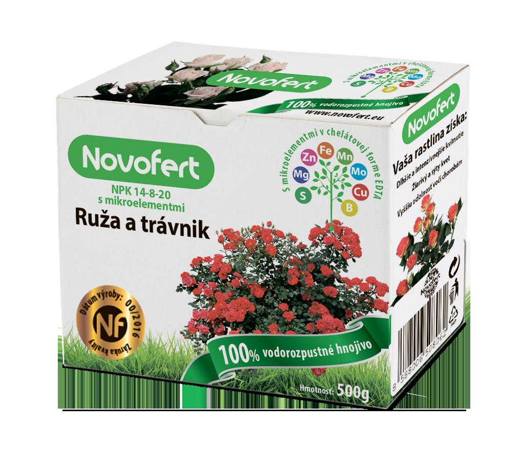 Vodorozpustné hnojivá NOVOFERT Ruža a trávnik
