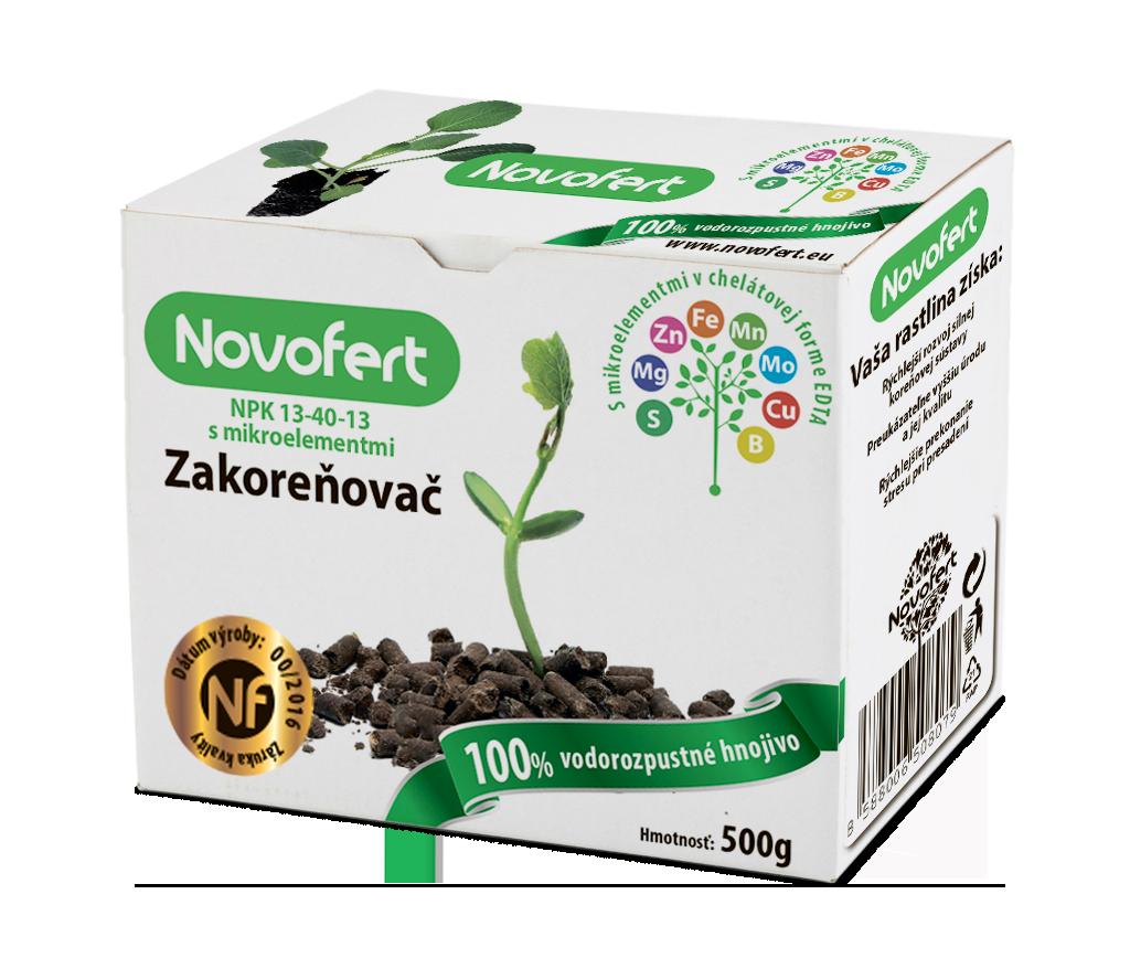 Vodorozpustné hnojivá Novofert Zakoreňovač