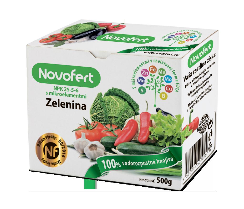 Vodorozpustné hnojivá NOVOFERT Zelenina